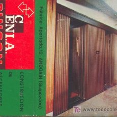 Cajas de Cerillas: CERILLAS - CENIA-PINGON CONSTRUCCIÓN DE ASCENSORES. ANDOAIN. GUIPUZCOA. FOTO FÁBRICA EN REVERSO. Lote 5974206