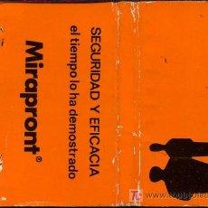 Cajas de Cerillas: CERILLAS - MIRAPRONT. SEGURIDAD Y EFICACIA.. Lote 6035193