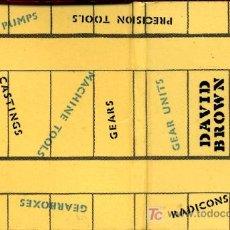 Cajas de Cerillas: CERILLAS - MADRID. DAVID BROWN. ENGRANAJES. MADE IN ITALY. Lote 5933663
