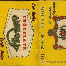 Cajas de Cerillas: CERILLAS - MEXICO. CHOCOLATE EMPERADOR / CHOCOLATE CARLOS V. Lote 15049040