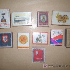 Cajas de Cerillas: LOTE DE 10 ANTIGUAS CAJAS DE CERILLAS. Lote 21821951