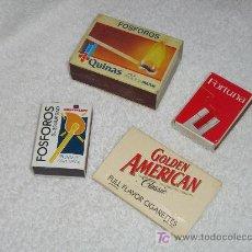 Cajas de Cerillas: LOTE DE 4 CAJAS DE CERILLAS. Lote 6416464