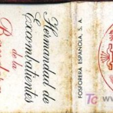 Cajas de Cerillas: CERILLAS - HERMANDAD DE EXCOMBATIENTES DE LA BANDERA DE VIZCAYA. Lote 19051060
