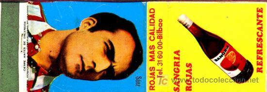 CERILLAS - SAEZ DEL ATHLETIC CLUB BILBAO. SANGRÍA ROJAS (Coleccionismo - Objetos para Fumar - Cajas de Cerillas)