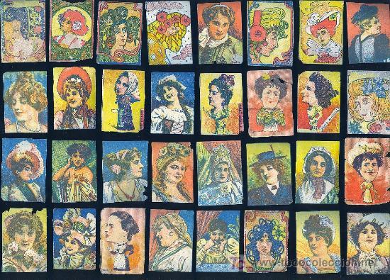 COLECCION DE MUJERES SIGLO XX. 40 FRENTES DE CERILLAS. (Coleccionismo - Objetos para Fumar - Cajas de Cerillas)