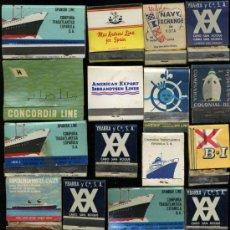 Cajas de Cerillas: LOTE DE 19 CAJAS DE CERILLAS DE COMPAÑIAS DE NAVEGACION. Lote 18935931