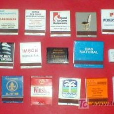Cajas de Cerillas: 21 CAJAS DE CERILLAS PUBLICITARIAS.. ENVIO GRATIS¡¡¡. Lote 19112366