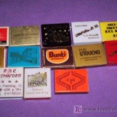 Cajas de Cerillas: QUEX TABACO - LOTE 13 CAJAS DE CERILLAS PUBLICIDAD. Lote 20405227