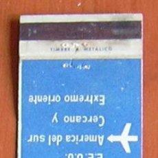 Cajas de Cerillas: SWISSAIR - LINEAS AÉREAS - CARTERITA DE CERILLAS EN PLANCHA. Lote 8413232