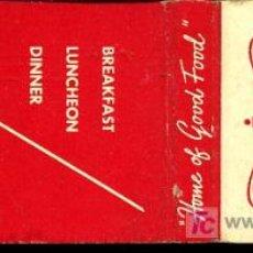 Cajas de Cerillas: CERILLAS - USA. NEW YORK - JOHN STREET FOOD SHOPPE (AÑOS 60-70). Lote 10153352