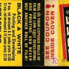 Cajas de Cerillas: CERILLAS - USA. FREE KODAK FILM. BLACK & WHITE O KODACOLOR (AÑOS 60-70). Lote 10166824