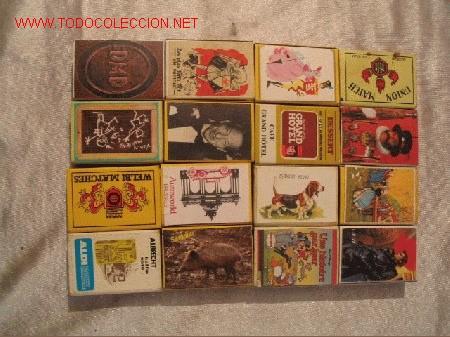 16 CAJAS CERILLAS DE BELGICA (Coleccionismo - Objetos para Fumar - Cajas de Cerillas)