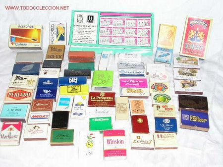 CAJAS DE CERILLAS DE PROPAGANDA LLENAS (Coleccionismo - Objetos para Fumar - Cajas de Cerillas)