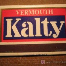 Boîtes d'Allumettes: CAJA DE CERILLAS - VERMOUTH KALTY. Lote 27246225