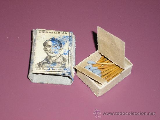 COLECCION TEMPORADA DE FUTBOL 1936 - 1937 Nº 79 MANUEL FERNANDEZ (Coleccionismo - Objetos para Fumar - Cajas de Cerillas)