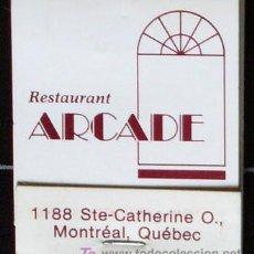 Cajas de Cerillas: CERILLAS DE RESTAURANTE DE MONTREAL-CANADA. Lote 17456245