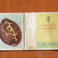 Cajas de Cerillas: CAJA DE CERILLAS - FOSFORERA CANARIENSE - CARACOLAS MARINAS Nº 20. Lote 11603054