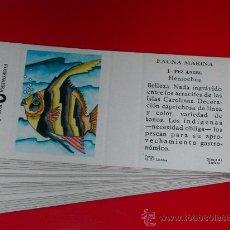 Cajas de Cerillas: FAUNA MARINA. 20 ETIQUETAS CAJA CERILLAS.COLECCION COMPLETA.AÑO 1985. Lote 27526745