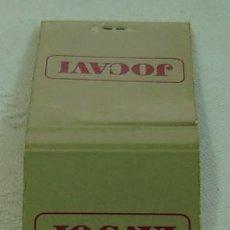 Cajas de Cerillas: CAJA CERILLAS PUBLICIDAD JOCAVI-INCOMPLETA. Lote 12162418