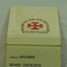 Cajas de Cerillas: CAJA CERILLAS PUBLICIDAD HOTELES ENTURSA-EMPRESA NACIONAL DE TURISMO,S.A.-INCOMPLETA. Lote 12184496