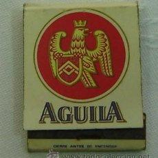 Cajas de Cerillas: CAJA CERILLAS PUBLICIDAD CERVEZA AGUILA-INCOMPLETA. Lote 13292845