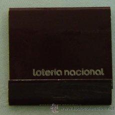 Cajas de Cerillas: CAJA CERILLAS PUBLICIDAD LOTERIA NACIONAL-INCOMPLETA. Lote 13293170