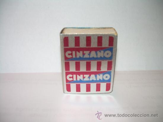 ANTIGUO ESTUCHE DE ALUMINIO PARA CAJA PARA CERILLAS CINZANO. (Coleccionismo - Objetos para Fumar - Cajas de Cerillas)