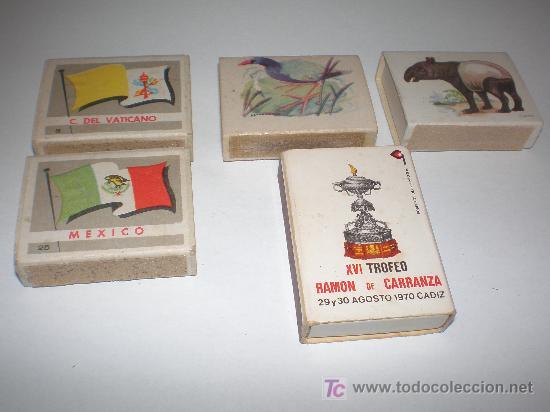 5 CAJAS DE CERILLAS CON FOSFOROS (Coleccionismo - Objetos para Fumar - Cajas de Cerillas)