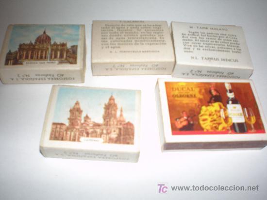 Cajas de Cerillas: 5 cajas de cerillas con fosforos - Foto 2 - 20807358