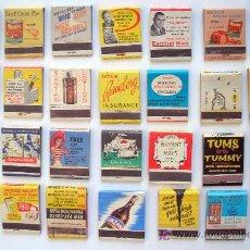 Cajas de Cerillas: LOTE 28 CAJAS DE CERILLAS PUBLICIDAD . Lote 25552741