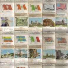 Cajas de Cerillas: COLECCION DE 33 PORTADAS DE CAJAS DE CERILLAS BANDERAS Y MONUMENTOS. Lote 27144867