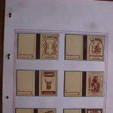 Cajas de Cerillas: CAJAS DE CERILLAS, SERIE VIEJOS TIEMPOS, FOSFOROS DEL PIRINEO, COMPLETA 12 CARTONES. Lote 15932732