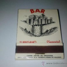 Cajas de Cerillas: CAJA DE CERILLAS TUREGANO (SEGOVIA) NUEVA . Lote 16027254