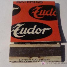 Cajas de Cerillas: CAJA DE CERILLAS. BATERÍAS TUDOR. AUTOMÓVIL. AÑOS 60 - 70. . Lote 16440607