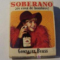 Cajas de Cerillas: CAJA DE CERILLAS. BEBIDAS. BRANDY SOBERANO - GONZÁLEZ BYASS. AÑOS 60 - 70. . Lote 16441157
