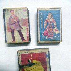 Cajas de Cerillas: LOTE 3 CAJAS DE CERILLAS. Lote 19905873