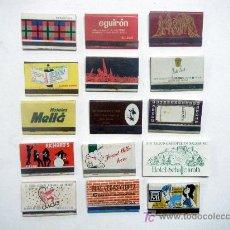 Cajas de Cerillas: LOTE 15 CAJAS DE CERILLAS SOBRE PUBLICIDAD. Lote 17478527