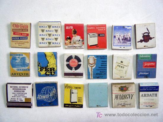 LOTE 18 CAJAS CERILLAS (Coleccionismo - Objetos para Fumar - Cajas de Cerillas)