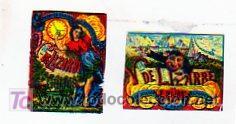 CAJA DE CERILLAS. VUIDA DE LIZARBE E HIJOS. CROMOS. (Coleccionismo - Objetos para Fumar - Cajas de Cerillas)