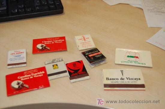 7 CAJAS DE CERILLA TIPO LIBRETA. AÑOS 70. BANCO VIZCAYA Y OTROS (Coleccionismo - Objetos para Fumar - Cajas de Cerillas)