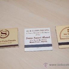 Cajas de Cerillas: TRES CAJAS DE CERILLAS ESTADOS UNIDOS. HOTELES DE NUEVA YORK Y MIAMI. 1984. Lote 26142542