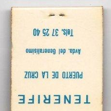 Cajas de Cerillas: CAJA DE CERILLAS.- CARTERILLA- HOTEL GUAJARA .- PUERTO LA CRUZ. TENERIFE.- CON CERILLAS.- AÑOS 70. Lote 19634495