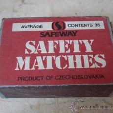 Cajas de Cerillas: CAJA DE CERILLAS SAFEWAY INGLATERRA. Lote 20379518