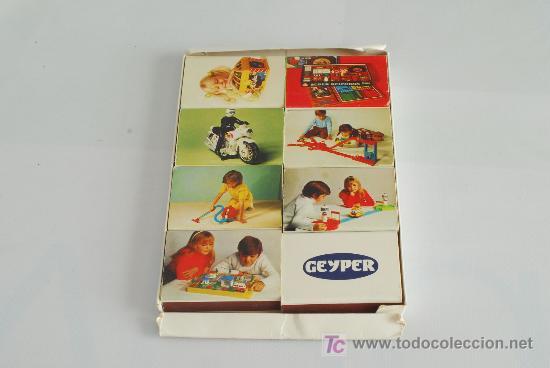 ESTUCHE CON 8 CAJAS DE CERILLAS PUBLICITARIAS DE JUGUETES GEYPER. (Coleccionismo - Objetos para Fumar - Cajas de Cerillas)