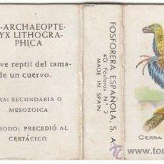 Cajas de Cerillas: CAJA DE CERILLAS DE FOSFORERA ESPAÑOLA, AVE. Lote 20557159