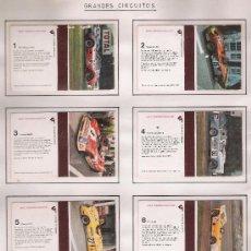 Cajas de Cerillas: GRANDES CIRCUITOS. COMPLETA 12 CARTONES. PEGADOS EN ALBUM.. Lote 20783676