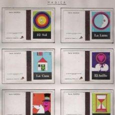 Cajas de Cerillas: SERIE MÁGICA. COMPLETA 12 CARTONES.PEGADOS EN ALBUM.. Lote 20783746