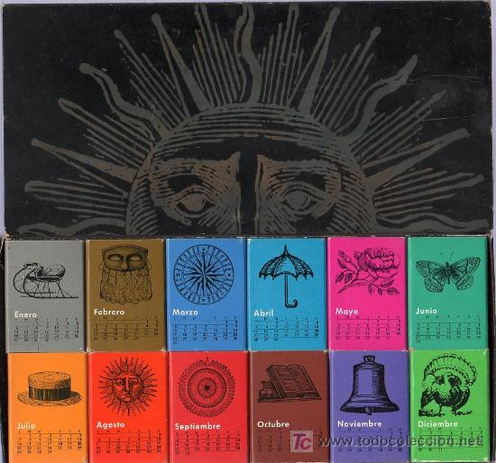 12 CAJAS DE CERILLAS, UNA POR CADA MES DEL AÑO EN DISTINTOS COLORES. 23 X 11 CM. (Coleccionismo - Objetos para Fumar - Cajas de Cerillas)