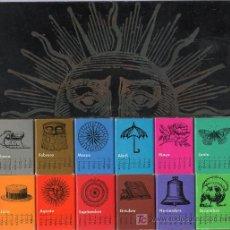 Cajas de Cerillas: 12 CAJAS DE CERILLAS, UNA POR CADA MES DEL AÑO EN DISTINTOS COLORES. 23 X 11 CM. . Lote 20902692