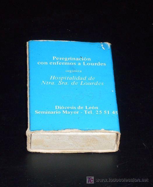 Cajas de Cerillas: CAJA DE CERILLAS VACÍA - Peregrinación a Lourdes - Diócesis de León - Foto 2 - 20981730